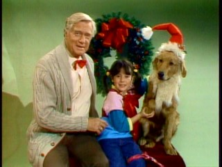 Merry Christmas from Henry (George Gaynes), Punky (Soleil Moon Frye), and Brandon (Brandon)!