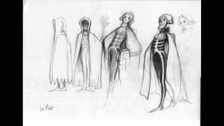 Designs for the Grim Reaper are featured in the concept art slideshow.