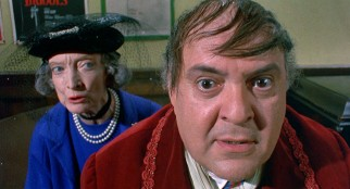 Nowadays, to get funding for his plays, Max Bialystock (Zero Mostel) must make elderly women (like Estelle Winwood) feel desired again.