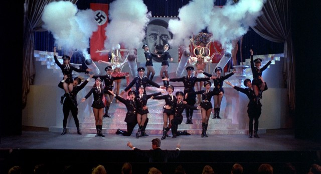 "The producers' musical ""Springtime for Hitler"" shows a flagrant lack of taste as it sympathetically supplies Nazi Germany's perspective."