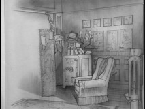 Designs for Bialystock and Bloom's office appear in the Sketch Gallery.