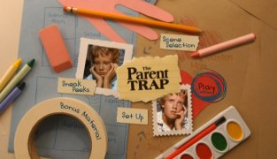 Photos and crafts get animated on The Parent Trap Disc 1 Main Menu
