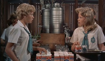 "You'll be seeing double when Sharon McKendrick (Hayley Mills) and Susan Evers (Hayley Mills) meet at summer camp in Disney's original 1961 comedy ""The Parent Trap."""