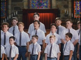 """Oh we, like sheep,"" croons the all-boys choir of Disney's ""Perfect Harmony."""