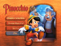 Like many Disney DVD menus of the late 1990s, Pinocchio's shows few frills.