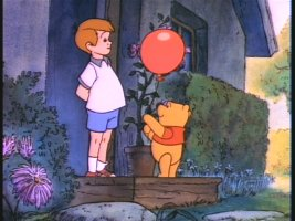 Pooh troubles Christopher Robin to help him find his song.