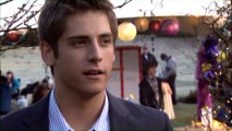 In a brief interview, actor Jean-Luc Bilodeau discusses the age difference between him and love interest Debby Ryan, but remains vague about his superstitious practices.