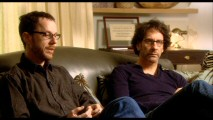 "As usual, Ethan and Joel Coen are uncomfortable yet wry getting interviewed in ""Becoming Serious."""