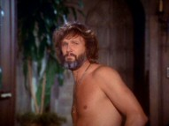 In the 1976 remake's trailer, the sight of a shirtless Kris Kristofferson casts doubt on Barbra Streisand's claim that she'll hate him.