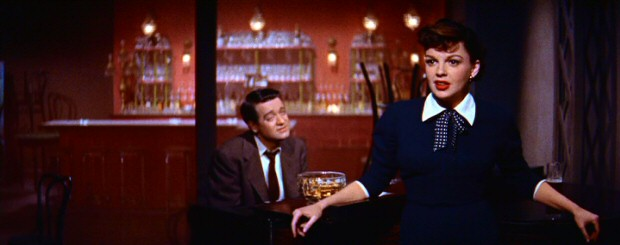 The second time that Esther Blodgett (Judy Garland) catches Norman's eye, she is singing at an after-hours club with her bandmate Danny (Tom Noonan) on piano.