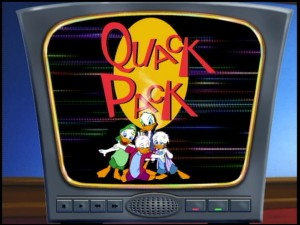 "Do not adjust your television set. It's just the ""Quack Pack"" title logo."