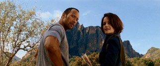 You'd be remiss if you didn't suspect an underplayed romance between Jack (Dwayne Johnson) and Alex (Carla Gugino). Also, if you didn't think they'd get a chance to turn around proudly in front of this film's Witch Mountain.