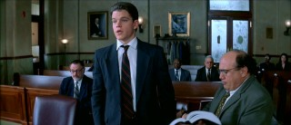Fresh out of law school, Rudy Baylor (Matt Damon) needs help from right hand man and 6-time Bar failure Deck Shifflet (Danny DeVito) to formulate objections.