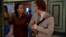 "Late 1980s TV teenagers Tempestt Bledsoe (Vanessa Huxtable) and Mark-Paul Gosselaar (Zack Morris) are all grown up in ""A Leg to Stand On."""
