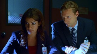"Bobbi (Natalia Cigliuti) and Richard (Teddy Sears) offer reassuring head tilts to their young, frightened client in ""Roman Holiday."""