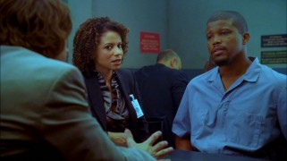 "Actors from two different eras of ""ER"" come together in the season finale, as Roz (Gloria Reuben) represents a disgraced firefighter (Sharif Atkins) in his property theft retrial."