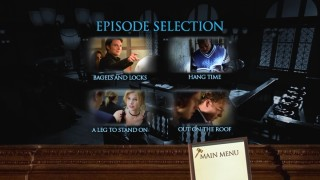 Recurring characters, a guest star, and one and a half leads are seen in Disc 2's Episode Selection menu stills.
