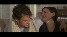 An unseen John Corbett causes Josh Duhamel and Ginnifer Goodwin to crack up in the gag reel.