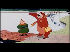 "Ranger Audubon J. Woodlore and Humphrey the Bear appear in two shorts on the ""Disney Rarities"" tin."