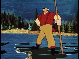 Paul Bunyan is the larger than life subject of his own 1958 Disney short.