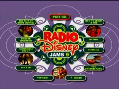 "The main and only menu for Disc 2, the Music Videos DVD, of ""Radio Disney Jams 9."""