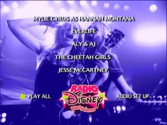 "Aly and AJ claim their share of the quick-changing animated Main Menu of the ""Radio Disney Party Jams"" concert DVD."