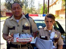 Selling Coconut Nut Cluster candy bars door-to-door is especially taxing on Jones (Cedric Yarbrough) and Kimball (Mary Birdsong).