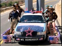 Reno's cops crank up the patriotism with their 9/11 float in the Season 5 finale.