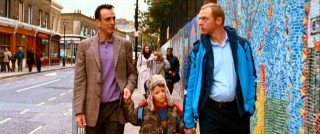 Dennis' son Jake (Matthew Felton) has another hand to hold in his mum's new boyfriend Whit (Hank Azaria).