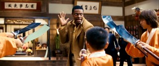 "Carter stands up to young Asian Americans with swords in one of the more memorable sequences of ""Rush Hour 3."""