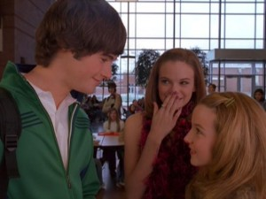 Is (Danielle Panabaker, center) appears as sparks fly between Marco (Chad Bronksy) and Jamie (Kay Panabaker).