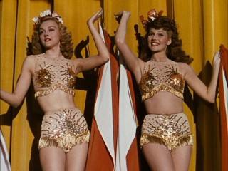 "After playing two burlesque girls in ""Cover Girl"", Rita Hayworth and Leslie Brooks would reteam in ""Tonight and Every Night."""