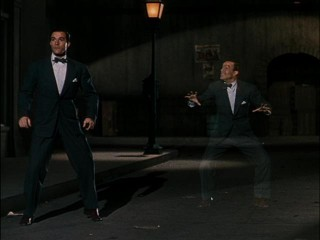 Gene Kelly's dancing with himself, dancing with himself, well there's nothing to lose and there's nothing to prove and he's dancing with himself.