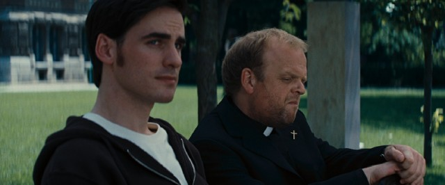 Father Matthew (Toby Jones) gives priest-in-training Michael Kovak (Colin O'Donoghue) reason to reconsider his resignation.