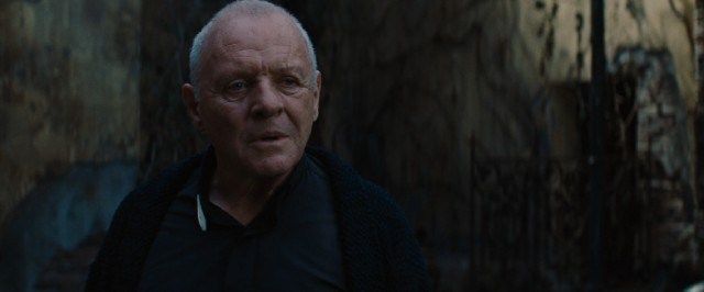 Legendary Welsh Jesuit exorcist Fr. Lucas Trevant (Anthony Hopkins) welcomes Michael to his Roman abode.