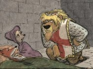 King Richard checks in on the injured Robin Hood in the movie's underwhelming alternate ending.