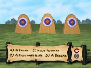 The Archery Trivia Challenge rewards knowledge and speed, but you'll have to be patient enough to listen to the question.