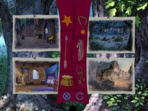 "The game ""Rescue Maid Marian"" requires listening and looking for five objects scattered about four locations."