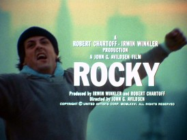 Rocky's celebration over climbing the so-called Rocky Steps outside the Philadelphia Museum of Art is held at the end of the film's provided teaser trailer.