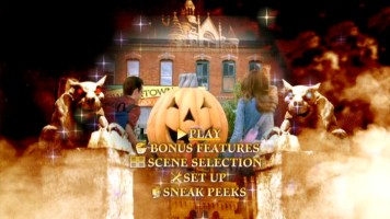 The Piper siblings' arrival in Halloweentown is just one of many images rotated in the Main Menu's animated montage.