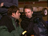 "Producer Jerry Bruckheimer and Director Boaz Yazkin are seen calling the shots in ""Beating the Odds."""