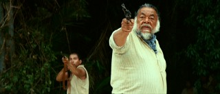 "Though you may recognize Spanish actor Sergio Calderon from movies like ""Men in Black"" and the third ""Pirates of the Caribbean"", here he claims a presence more greatly felt as gun-toting Lead Mayan."