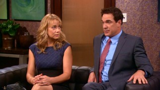 Jeff (Patrick Warburton) has a very clear goal in mind for attending couples therapy with Audrey (Megyn Price).