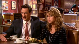 As the series' marathon couple Jeff and Audrey Bingham, Patrick Warburton and Megyn Price get top billing and the lion's share of titular storylines.