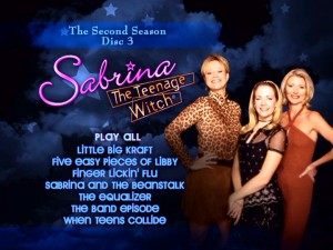 Special features, set up, scene selection? The DVD menus of Sabrina, The Teenage Witch: The Second Season offer none of these things.