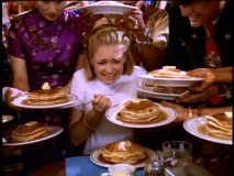 "When it comes to flapjacks, Sabrina just can't get enough in ""Pancake Madness."""
