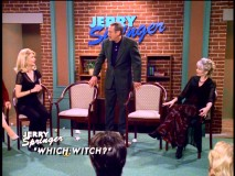 "Mr. Kraft is caught between two women on a Jerry Springer episode that poses the question ""Which Witch?"" I can't think of a better place to sort out a love triangle."