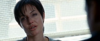 Salt (Angelina Jolie) sports some serious bruises in the alternate ending interrogation of the DVD's Unrated Extended Cut.