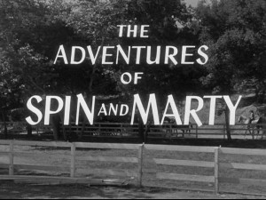 "This title screen for ""The Adventures of Spin and Marty"" can be seen twenty-five times in this DVD set."