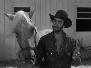 "Leonard Geer plays the quirky wrangler who is known to say ""Well, I'll be a blue-nosed gopher."" Lennie actually provided the horse which played Skyrocket."